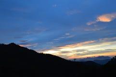 岘港市,巴娜小山,越南,越南,日出,巴娜盖帽,颜色 图库摄影