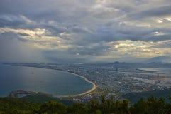岘港,越南的惊人鸟瞰图  库存图片