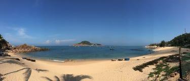 岘港,越南美丽的海  库存照片