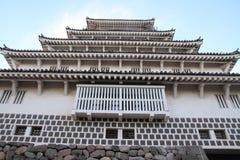 岛原市城堡城堡塔在长崎 免版税库存图片