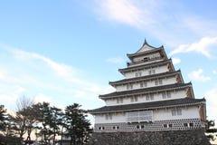 岛原市城堡城堡塔在长崎 库存照片