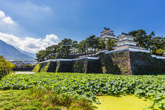 岛原市城堡,著名吸引力在长崎县, Kyu 库存图片