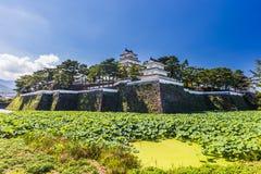 岛原市城堡,著名吸引力在长崎县, Kyu 免版税库存照片