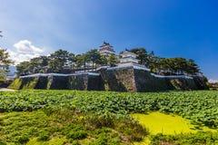 岛原市城堡,著名吸引力在长崎县, Kyu 免版税图库摄影