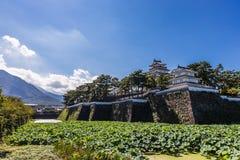 岛原市城堡,著名吸引力在长崎县, Kyu 免版税库存图片