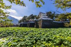岛原市城堡,著名吸引力在长崎县, Kyu 库存照片