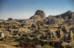 岩层在公园Isalo,马达加斯加 免版税图库摄影