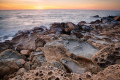 岩层在加利福尼亚 免版税库存照片