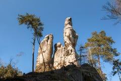 岩层在漂泊天堂Geopark 库存图片
