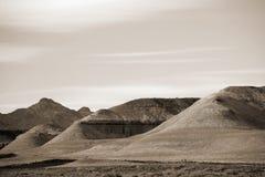 岩层在莫哈韦沙漠 库存照片