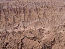 岩层在阿塔卡马沙漠 免版税库存照片