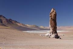 岩层在阿塔卡马沙漠 免版税库存图片