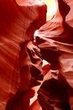 岩层在更低的羚羊峡谷 库存图片
