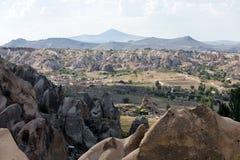 岩层在Goreme国家公园 cappadocia 库存照片