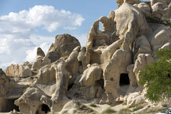 岩层在Goreme国家公园 cappadocia 免版税库存照片