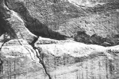 岩层,黑白背景 库存图片