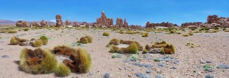 岩层, Uyuni,玻利维亚 免版税库存照片