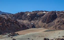 岩石、山和沙子 免版税库存照片