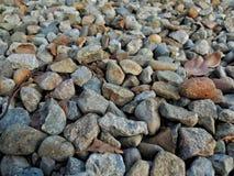 岩石、石头和小卵石 免版税图库摄影