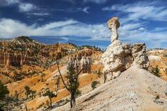岩石不祥沙漠风景远足犹他的布赖斯峡谷 免版税库存图片