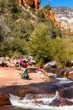 滑岩石亚利桑那 库存照片