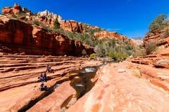 滑岩石亚利桑那 免版税库存图片
