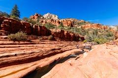 滑岩石亚利桑那 免版税库存照片