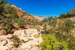 滑岩石亚利桑那 免版税图库摄影