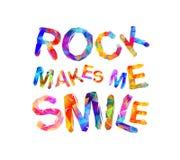 岩石使我微笑 传染媒介题字 免版税库存照片