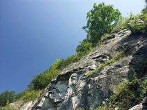 岩石倾斜 免版税图库摄影