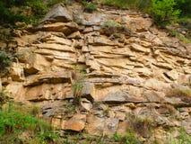 岩石倾斜 免版税库存照片