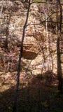 岩石光和阴影 免版税库存照片