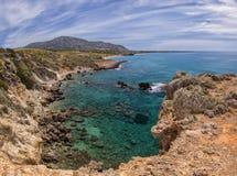 岩石克里特岛风景 图库摄影