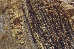 岩石分层堆积纹理 免版税库存图片