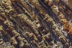 岩石分层堆积纹理 免版税库存照片