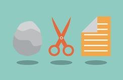 岩石剪刀和纸 免版税库存图片