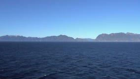 岩石加拿大海岸看法从游轮的 影视素材