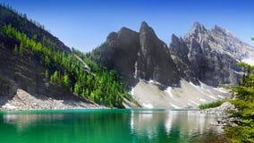 岩石加拿大的山 免版税库存照片
