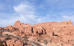 岩石和云彩形成 免版税库存图片