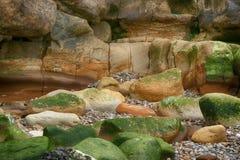 岩石和冰砾 免版税库存照片
