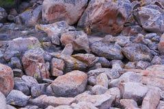 岩石和冰砾 库存图片