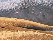 岩石和冰详细资料 免版税库存图片