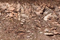 岩石和土背景纹理 免版税库存照片