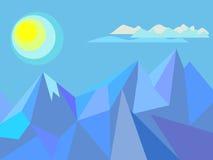 岩石和太阳 免版税库存图片