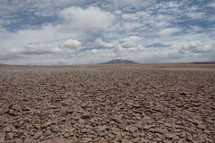 岩石和沙子沙漠,智利 免版税库存照片
