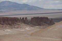 岩石和沙子沙漠,智利 库存图片