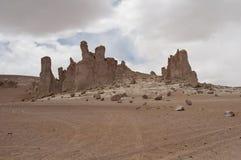 岩石和沙子沙漠,智利 免版税库存图片