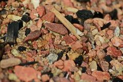 岩石和沙子 免版税库存图片