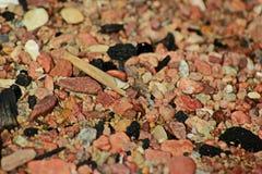 岩石和沙子 免版税图库摄影