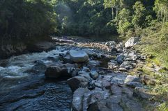 岩石和河 库存照片